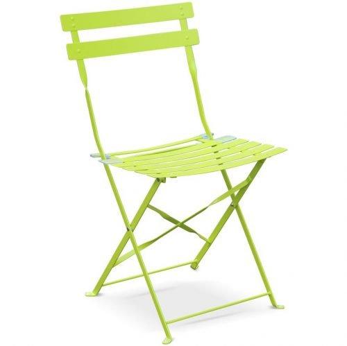 Chaise bistrot Vert Pomme - Mobilier de terrasse en location