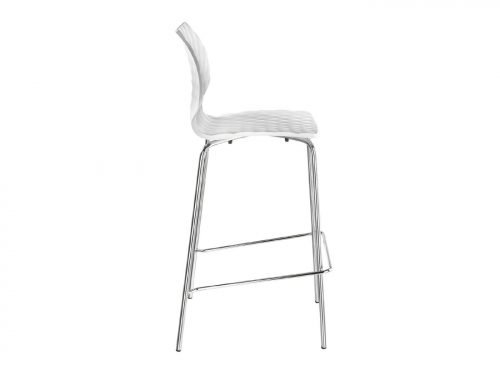 Chaise haute design blanche - Tabouret de bar en location