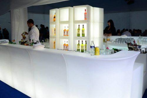 Location de bar Jumbo droit corner - Bar lumineux led en location
