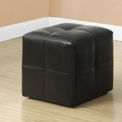 Pouf en cuir brun - chaise et tabouret en location