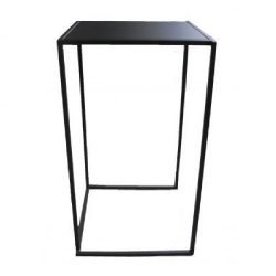 Location de Table haute : mange debout quadra noire