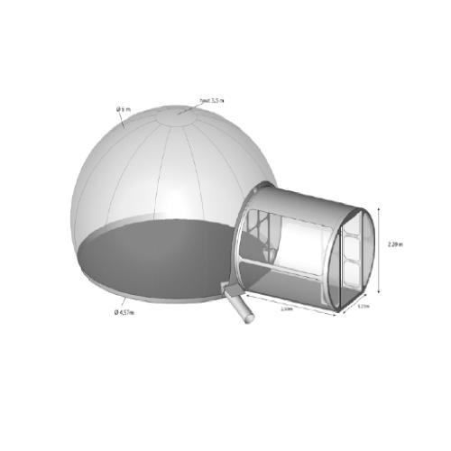 Sphère avec SAS 5M en location