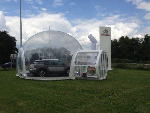 Location de sphère gonflable avec sas