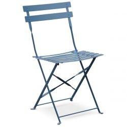 Chaise bistro bleue en location