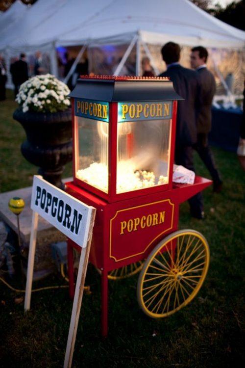 machine à pop corn en location