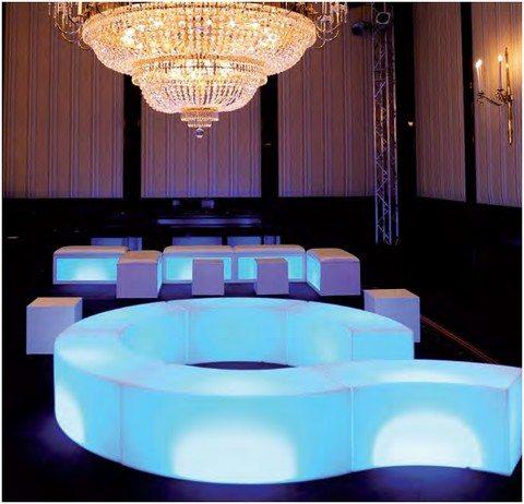 Snake LED - meuble lumineux en location