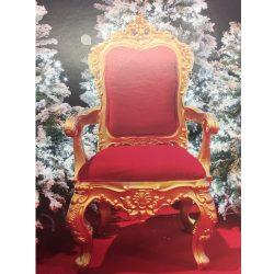 trône saint nicolas - trone père noel - location trône