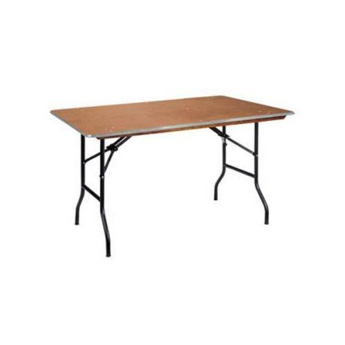 Location table rectangulaire 120 cm (4 personnes)