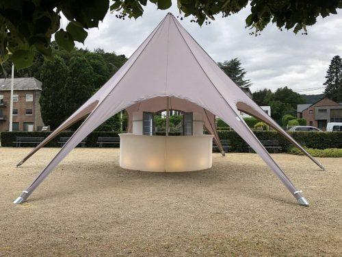 Location tente de réception - tente étoile starshade 10m