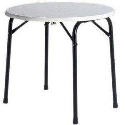 Table ronde en location : table pour 4 personnes, diamètre 85 cm
