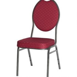 Location Chaise Chambord - assise et dossier en velours rouge